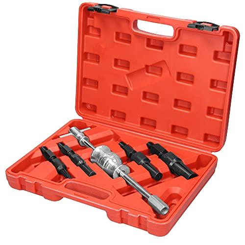 ECD Germany Estrattore per Cuscinetti Interni 5 Pezzi 1 Martello Scorrevole e 4 estrattori 10mm-32mm Estrattore Interno del Cuscinetto con Martello di Scorrimento Estrattore del Cuscinetto a Sfera
