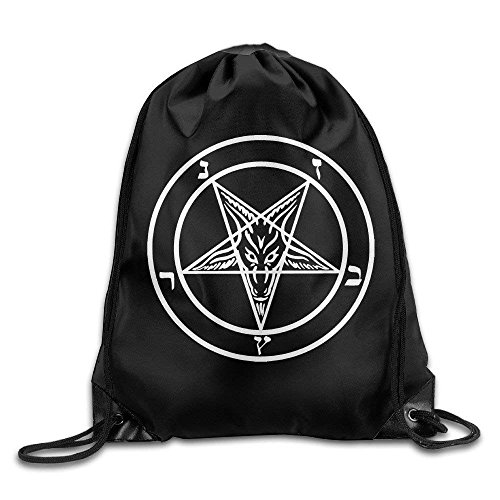 wusond Dämonensiegel von Baphomet Cool Drawstring Backpack String Bag
