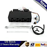 A/C Air Conditioning Evaporator Assembly Unit & Heater Kit, Underdash Heat Cooler Assembly Unit, 3 Speed 12V Electrical Thermostat 4Max Air Volume 600 CFM for Car Truck