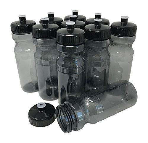 CSBD Clear 24 Oz Sports Water Bottles, 10 Pack, Blank for Customized...