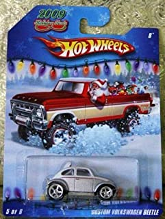 Hot Wheels 2009 Holiday Rods #5/6 - Silver/White Custom Volkswagen Beetle