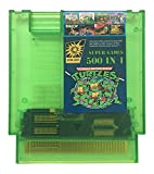 500 in 1 NES Super Games Multi Cart 72 Pin 8 bit Transparent Green Game Cartridge - LIMITED EDITION