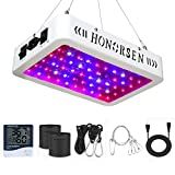 HONORSEN 600W LED Grow Light Full Spectrum Double Switch Plant Light for Hydroponic