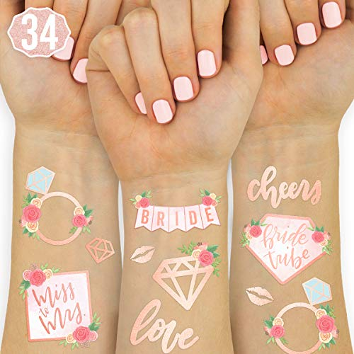 xo, Fetti Bride Tribe Tattoos - 34 Glitter Styles   Bachelorette Party Decoration, Bridesmaid Favor, Bride to Be Gift + Bridal Shower Supplies