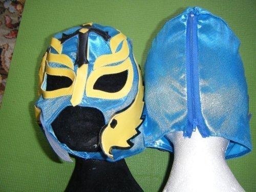 Couleur varie – Rey Mysterio Masque de catch WWE catcheur Fancy Dress Up Costume Enfants garçons enfants Nouveau Jeu de rôle mexicain temps de fête de Noël Halloween NEUF