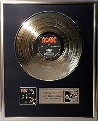 AC/DC - Live goldene Schallplatte gold record