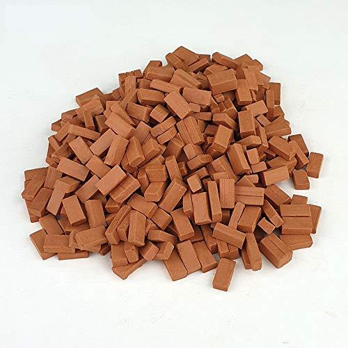 Ladrillos en Miniatura. Ladrillo macizo rojo 10 Mm. (1.000 u.)