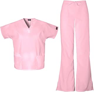 Cherokee Workwear Women's 4700 Top & 4101 Pant Medical Uniform Scrub Set