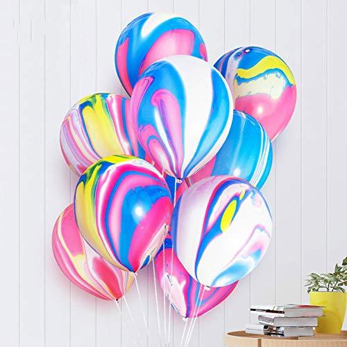 Oulensy Nicro 5 10 Piezas de 10 Pulgadas Pintura ágata Globos Fiesta de cumpleaños del Globo Colorido del Aire Nube Ballon DecorationBalony Globos # Bal63