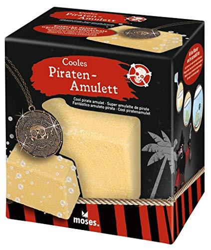 Moses. 35028 Cooles Amulett | Goldschatz zum Auflösen im Wasser mit Schmuck Überraschung | Ideal für Piraten-Geburtstagspartys | Seeräuber Kostüm Accessoire