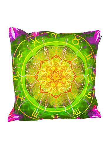 PSYWORK - Cojín (60 x 60 cm), diseño de Zodiac, Color Verde