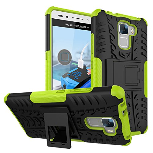 BCIT HuaWei Honor 5C/Honor 7 Lite/GT3/GR5 mini Hülle - Dual Layer Rugged Armor Drop Resistance Handys SchutzHülle mit Ständer für HuaWei Honor 5C/Honor 7 Lite/GT3/GR5 mini - Grün
