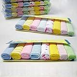 Sroomcla Set de Cuadrados de Muselina para bebés recién Nacidos 8 Piezas Toallas faciales de algodón Suave Natural Premium para bebés 901''x901 '' con diseño Impreso Toallas faciales para bebés Usual