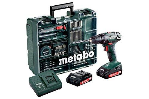 Metabo, BS 18, 602116540, accuboormachine set mobiele werkplaats