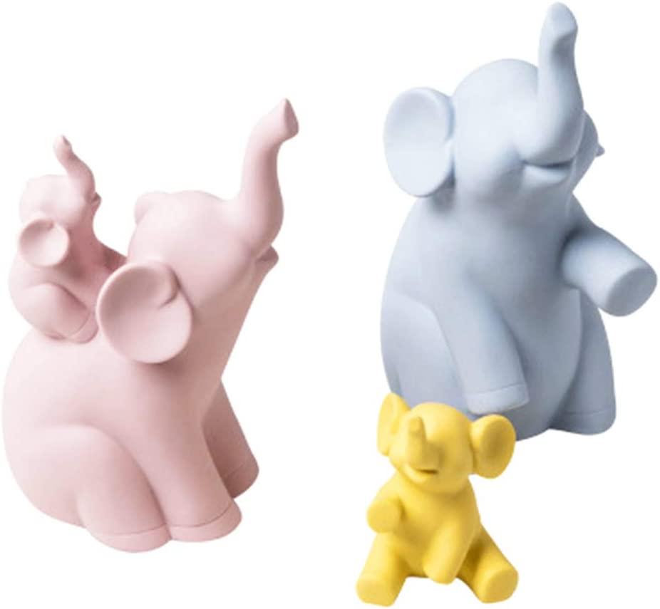 Ceramics Elephant Statue Family Ranking TOP8 of Credence Four for Decor Ideal A Home