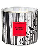 White Barn Candle Company Bath and Body Works 3-Wick Scented Candle w/Essential Oils - 14.5 oz - Halloween 2020 - Vampire Blood