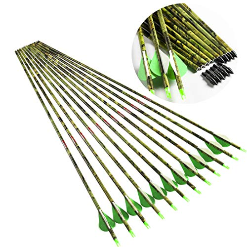 Linkboy Archery Spine 300 Carbon Arrows for Compound Recurve Long Bows Adult Hunting Practice 30...