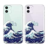 uCOLOR Case for iPhone 11 (6.1 inch) Japanese Wave Thin Slim Hybrid Case Hard PC with Soft TPU Bumper Anti-Scratch Protective Crystal Clear Case for iPhone 11 XIR 6.1 inch 2019