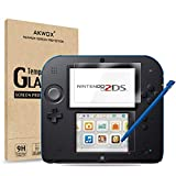 AKWOX [2 Set] Nintendo 2DS Protector de Pantalla, [Resistente a Arañazo] [Alta Definición] Película de protección para Nintendo 2DS