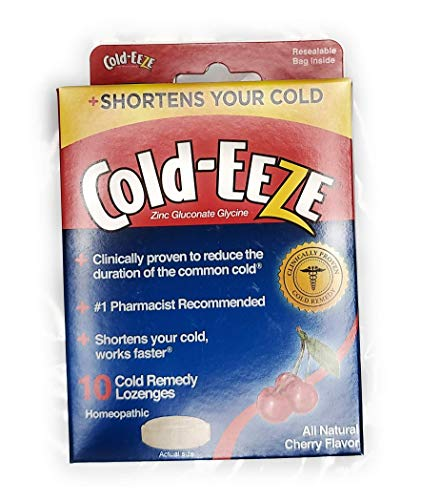 Cold-EEZE Cold Remedy Lozenges, Cherry Flavor, 10 Count