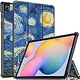 Gadget Armour - Carcasa para Samsung Galaxy Tab S6 Lite 10.4 SM-P610 SM-P615 2020, soporte magnético con encendido y apagado automático para Samsung Galaxy S6 Lite 10.4 pulgadas (estrella)