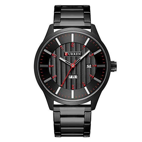 CURREN Herrenuhr Quarz Markenuhr Armbanduhr Kalender Zeitanzeige Edelstahl Uhr