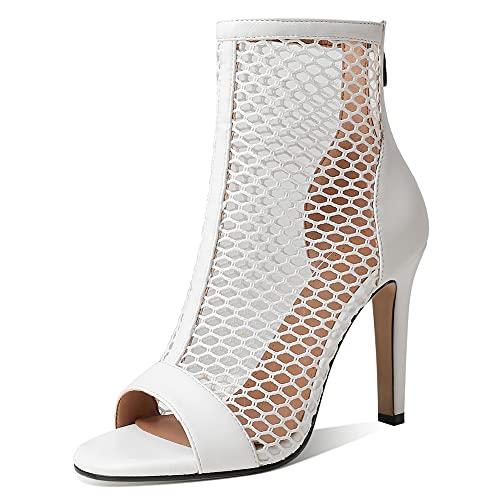 Ducarulan Mujer Moda Verano Botines Peep Toe Sandalias Stiletto