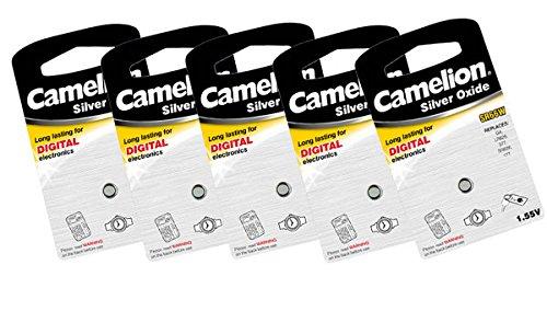 Camelion SR59W oxyde d'argent 1,55 V piles bouton (Pack de 5)