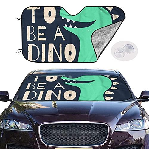 IUBBKI Bonito diseño para niños, diseño divertido de dinosaurio, de 129,5 x 69,8 cm, tela de aluminio para la máxima personalidad UV y sol plegable