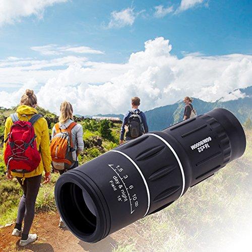 Aoewise Binoculares de plástico 16X52 HD Herramientas de Viaje telescopio al Aire Libre Impermeables