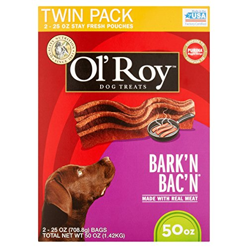 Ol' Roy Bark'n Bac'n Dog Treats, (Bark'n Bac'n, 50-Ounce)