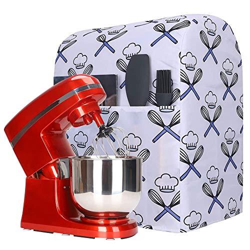 Küchenhelfer-Staubschutz, Ständer für kleine Geräte, Abdeckung mit Taschen, kompatibel mit allen Kippkopf- und Schalenhebern, 5–8 Quart Küchenhelfer-Mischpulten für Kitchenaid Mixer, Hamilton (Y01)