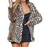 FAMILIZO Abrigos Mujer Leopardo Sexy Invierno Cálido Nuevo Viento Abrigo Cardigan Leopardo De Impresión Larga Capa Chaquetas Mujer Capa Anorak