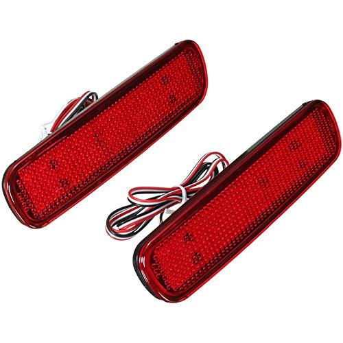 CUHAWUDBA Coche LED Parachoques Trasero Reflector Luz para Land Cruiser 100 / Cygnus LX470 LED Luz de Advertencia LáMpara de Freno Linterna Trasera