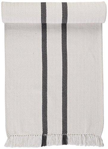 Linum Tischläufer Lassie G19 grau 45x150cm, Tischdecke, Tischtextilien, Tablerunner, Wohntextilien