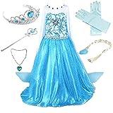 Anbelarui Mädchen Prinzessin Kleid Cosplay Kostüm Set aus Diadem, Handschuhe,...