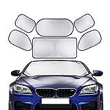 Coche Sun Shade 6pcs Ventana Shades Protector de la ventana del techo Bebé para niños Adultos...