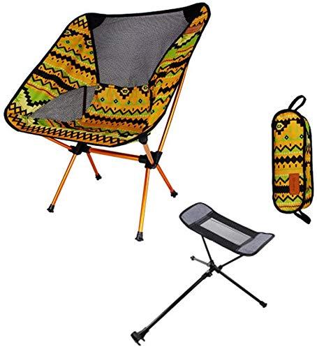 ANLEM plegable ligero silla de camping portátil de viaje mochilero ultraligero Sillas de malla transpirable de tela Oxford espesado con con el pedal y lleva el bolso for picnic al aire libre, Pesca, P