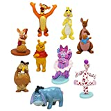 Disney Store Winnie the Pooh Deluxe Figurine 9pce Playset - Winnie The Pooh - containing 9 plastic moulded figurines - Suitable for Ages 3+