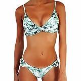JewelryWe Bikini Mujer 2020 Push Up Traje de Baño Verde de Hojas, Bikini Talla Grande Bañador para Mujer 2 Piezas para Playa, Nuevo Modelo by