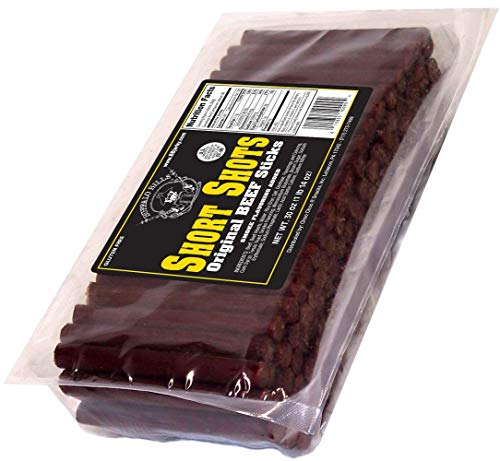 "Buffalo Bills Original Short Shots (120 mild flavored 3.5"" beef sticks per 30oz bag)"
