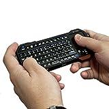 Mini Tastiera Bluetooth per Tablet Universale, COOPER MAGIC WAND Tastiera Senza Fili con Retroilluminazione Portatile Universale con Touchpad per tutti i tipi di Tablet (Nero)