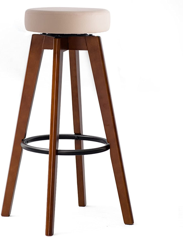 LQQGXL Solid Wood bar Chair, 60° redating Retro Fashion bar Stool Creative Dining Chair, (color   E)