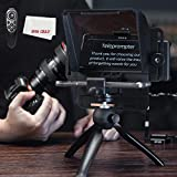 KEAYISOFINE Teleprompter Kit Portable Inscriber Mobile Phone Teleprompter Artifact Video with Remote Control for Phone and DSLR Recording