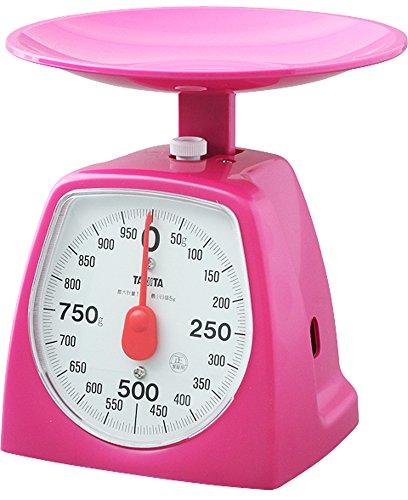 タニタ キッチンスケール はかり 料理? アナログ 1kg 5g単位 ピンク 1439-PK