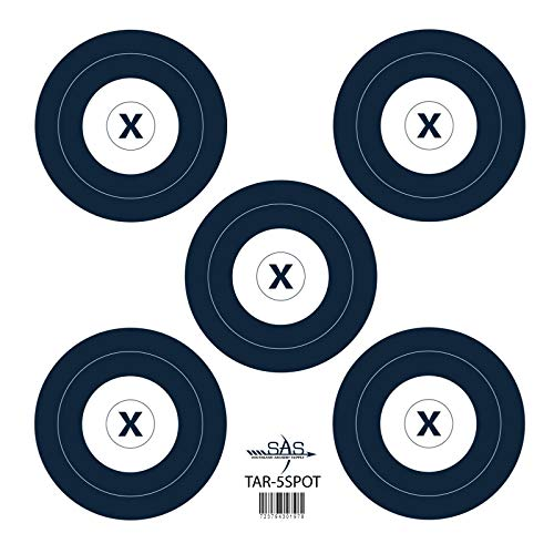 Southland Archery Supply SAS 5-Spot Paper Target Face for Bow Shooting Range Gun Rifle Practice Compound Recurve Competition (12/Pack, 40cm/Approx. 17' (5-Spot))