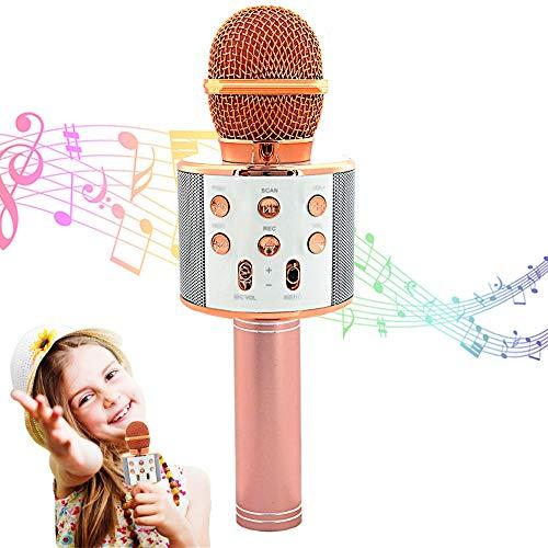 Machine de microphone de karaoké Bluetooth sans fil, Karaoké portable portable Machine de lecteur de haut-parleur de karaoké portable Bluetooth pour enfants Adultes Fille Garçon Maison KTV Party