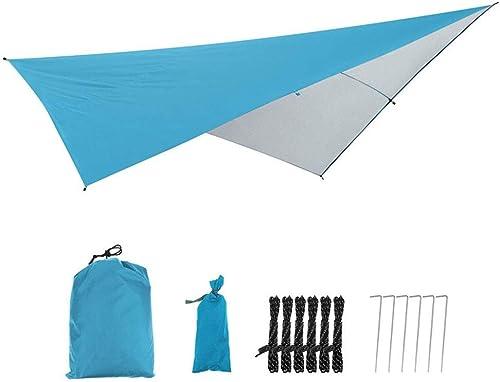 Bache de prougeection FJZ Auvent Tissu Parasol En Plein Air Imperméable à La Pluie Prougeection Solaire épaississeHommest Simple Sauvage Camping Plage Camping Auvent Auvent Voyage Camp Tente Perg portable Ca