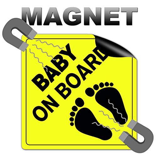 STROBO Baby on Board 10 x 10 cm Baby a bordo targhetta magnetica