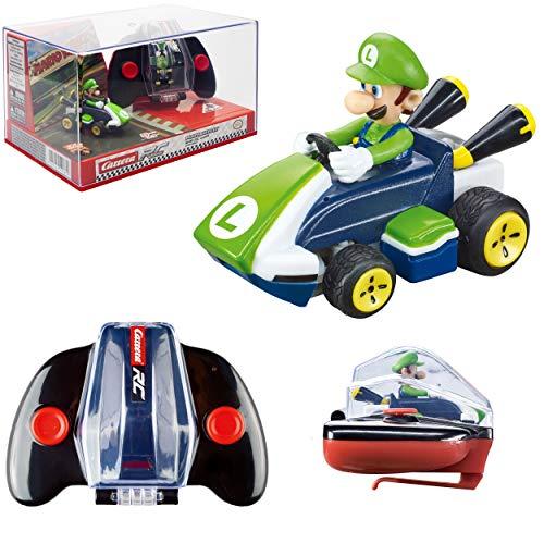 Carrera RC Nintendo Mario Kart 2.4 GHz Mini Collectible Radio Remote Control Toy Car Vehicle - Luigi